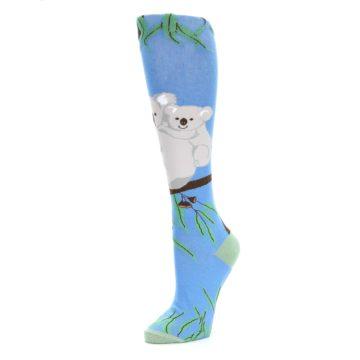 Image of Blue Koala on a Tree Women's Knee High Socks (side-2-09)
