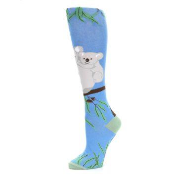 Image of Blue Koala on a Tree Women's Knee High Socks (side-2-10)