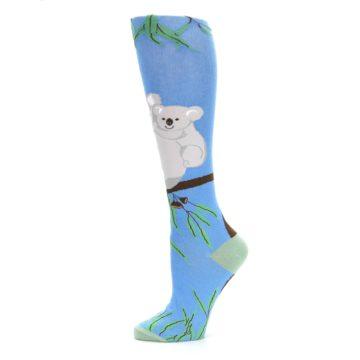 Image of Blue Koala on a Tree Women's Knee High Socks (side-2-11)