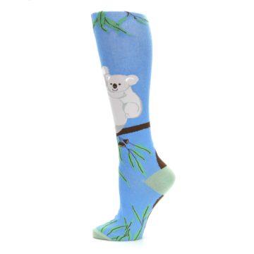 Image of Blue Koala on a Tree Women's Knee High Socks (side-2-12)