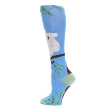Image of Blue Koala on a Tree Women's Knee High Socks (side-2-13)