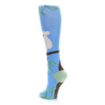 Image of Blue Koala on a Tree Women's Knee High Socks (side-2-back-15)