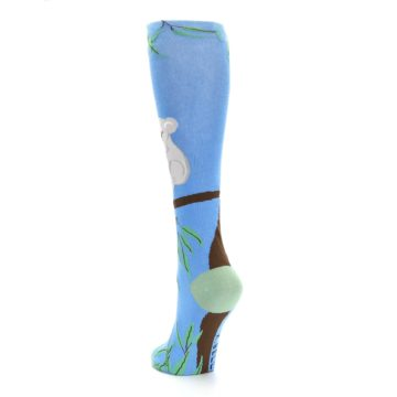 Image of Blue Koala on a Tree Women's Knee High Socks (side-2-back-16)