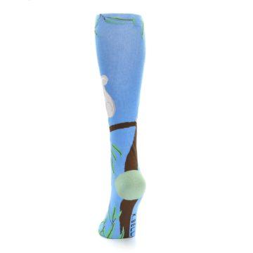 Image of Blue Koala on a Tree Women's Knee High Socks (back-17)