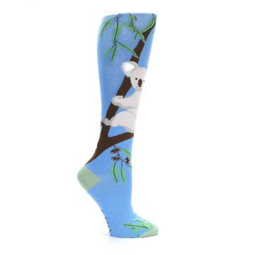 Image of Blue Koala on a Tree Women's Knee High Socks (side-1-25)