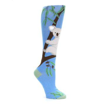 Image of Blue Koala on a Tree Women's Knee High Socks (side-1-26)