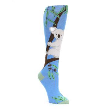 Image of Blue Koala on a Tree Women's Knee High Socks (side-1-27)