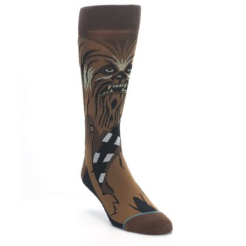 Image of Chewbacca Cheewie Star Wars Men's Casual Socks (side-1-front-02)