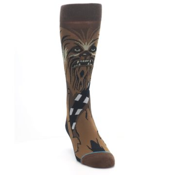 Image of Chewbacca Cheewie Star Wars Men's Casual Socks (side-1-front-03)