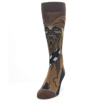 Image of Chewbacca Cheewie Star Wars Men's Casual Socks (side-2-front-06)