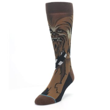 Image of Chewbacca Cheewie Star Wars Men's Casual Socks (side-2-front-07)