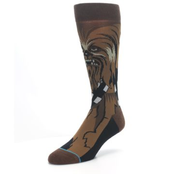 Image of Chewbacca Cheewie Star Wars Men's Casual Socks (side-2-front-08)