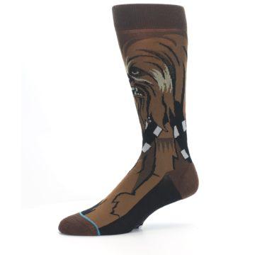 Image of Chewbacca Cheewie Star Wars Men's Casual Socks (side-2-10)