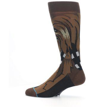 Image of Chewbacca Cheewie Star Wars Men's Casual Socks (side-2-12)