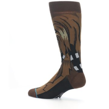 Image of Chewbacca Cheewie Star Wars Men's Casual Socks (side-2-13)