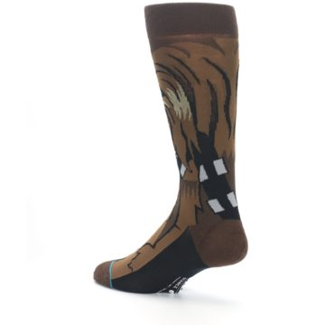 Image of Chewbacca Cheewie Star Wars Men's Casual Socks (side-2-back-14)