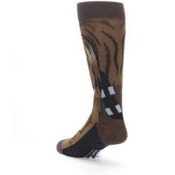 Image of Chewbacca Cheewie Star Wars Men's Casual Socks (side-2-back-15)