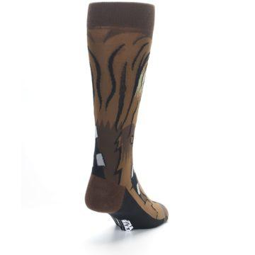 Image of Chewbacca Cheewie Star Wars Men's Casual Socks (side-1-back-20)