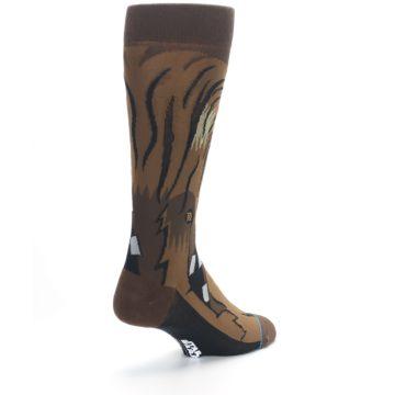 Image of Chewbacca Cheewie Star Wars Men's Casual Socks (side-1-back-21)