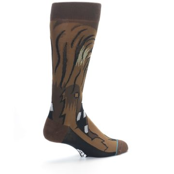 Image of Chewbacca Cheewie Star Wars Men's Casual Socks (side-1-back-22)