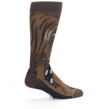 Image of Chewbacca Cheewie Star Wars Men's Casual Socks (side-1-23)