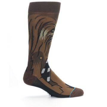 Image of Chewbacca Cheewie Star Wars Men's Casual Socks (side-1-24)