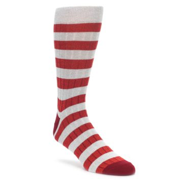 Red Grey Stripe Mens Dress Socks K Bell Socks