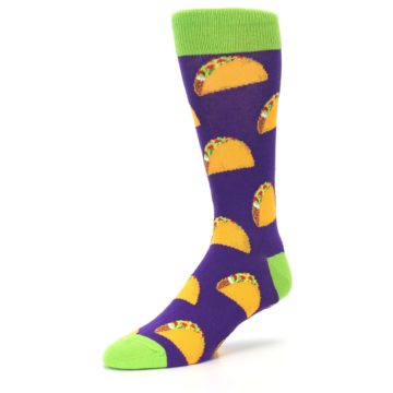 Image of Purple Tacos Men's Dress Socks (side-2-09)
