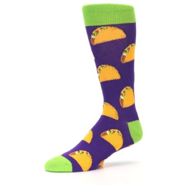 Image of Purple Tacos Men's Dress Socks (side-2-10)