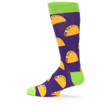 Image of Purple Tacos Men's Dress Socks (side-2-13)