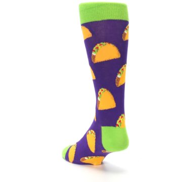 Image of Purple Tacos Men's Dress Socks (side-2-back-16)