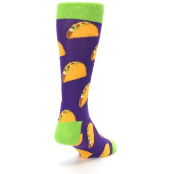 Image of Purple Tacos Men's Dress Socks (side-1-back-21)