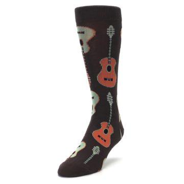 Image of Brown Guitars Men's Dress Socks (side-2-front-07)