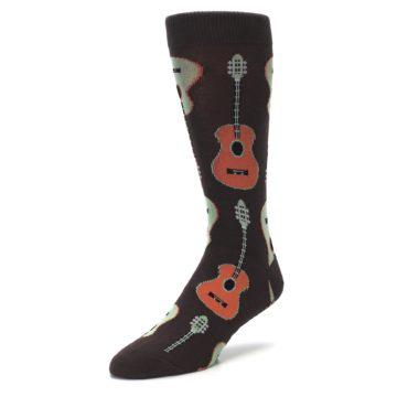 Image of Brown Guitars Men's Dress Socks (side-2-front-08)