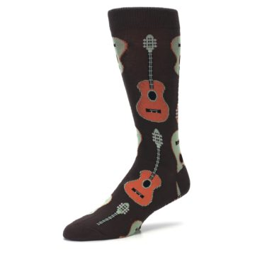 Image of Brown Guitars Men's Dress Socks (side-2-09)