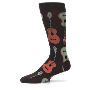 Image of Brown Guitars Men's Dress Socks (side-2-11)