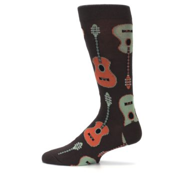 Image of Brown Guitars Men's Dress Socks (side-2-12)