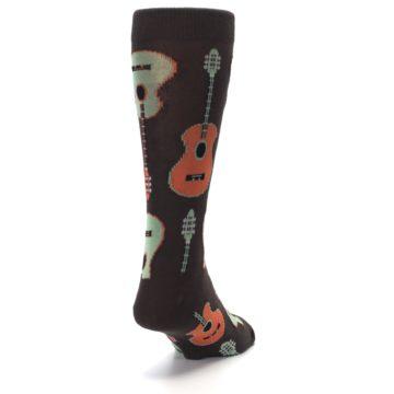 Image of Brown Guitars Men's Dress Socks (side-1-back-20)
