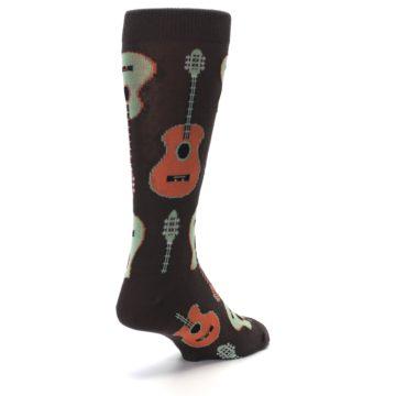 Image of Brown Guitars Men's Dress Socks (side-1-back-21)