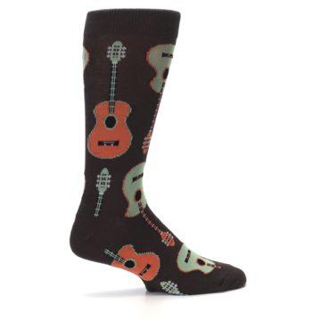 Image of Brown Guitars Men's Dress Socks (side-1-24)