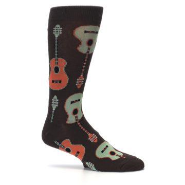 Image of Brown Guitars Men's Dress Socks (side-1-25)