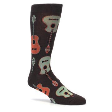Image of Brown Guitars Men's Dress Socks (side-1-26)