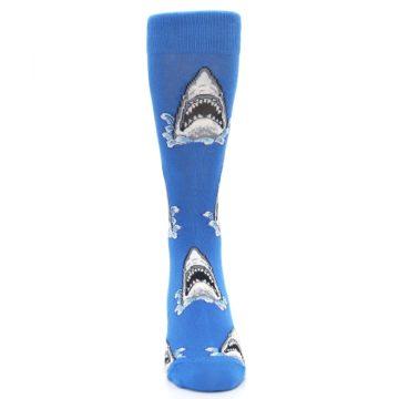 Image of Blue Shark Attack Men's Dress Socks (front-04)