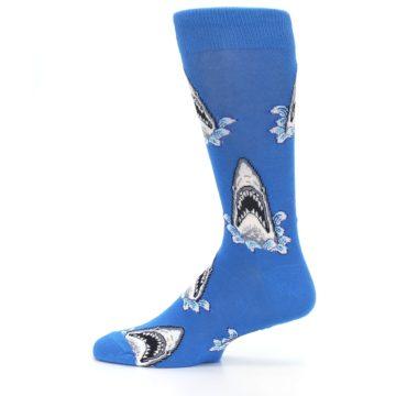 Image of Blue Shark Attack Men's Dress Socks (side-2-12)