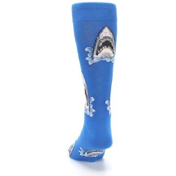 Image of Blue Shark Attack Men's Dress Socks (back-17)