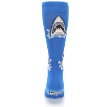 Image of Blue Shark Attack Men's Dress Socks (back-18)