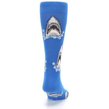 Image of Blue Shark Attack Men's Dress Socks (back-19)