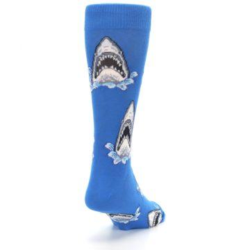Image of Blue Shark Attack Men's Dress Socks (side-1-back-20)