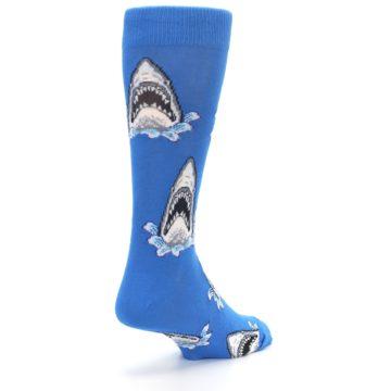 Image of Blue Shark Attack Men's Dress Socks (side-1-back-21)