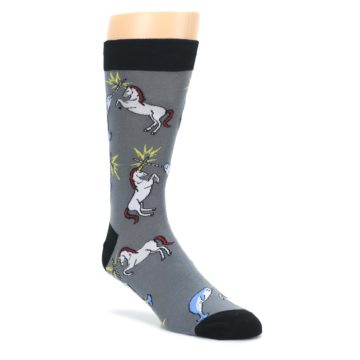 Unicorn-vs-Narwhal-Mens-Dress-Socks-Sock-It-To-Me